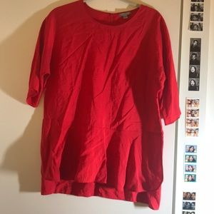 COS Red blouse